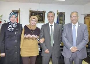 جامعه قناة السويس تُكرم الحاصلة على الميدالية الذهبية في رمي الرمح
