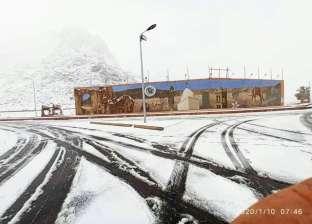 ارتفاعه 4 سم.. الثلوج تغطي سانت كاترين بالكامل: لحظة تاريخية (صور)