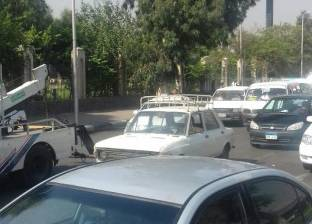 """كثافات مرورية بـ""""صلاح سالم"""" بسبب أتوبيسات الموظفين"""