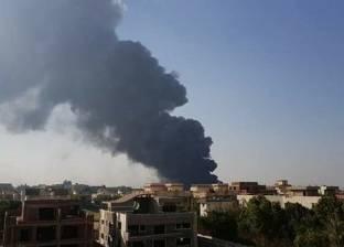 """35 سيارة إطفاء لمحاصرة حريق مصنع أسلاك العبور.. العمال نجوا من """"كارثة"""""""