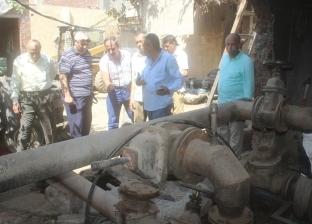 بالصور| إصلاح خط طرد بمشروع خفض منسوب الصرف الصحي بدسوق