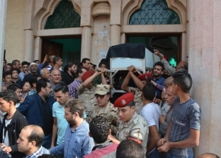 بالصور| بالزغاريد.. تشييع شهيد القوات المسلحة في سيناء بالغربية