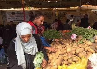 """""""كلنا واحد"""" بمطروح تطرح 8 أطنان خضراوات: البطاطس بـ7 جنيهات"""
