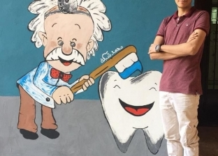 """""""شبكة"""" فنان بدرجة طبيب أسنان: """"رسمت صورة لمحمد صلاح وبحاول أوصل له"""""""