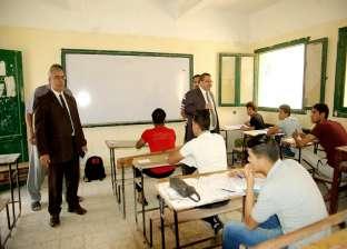 رئيس قطاع التعليم الفني يتفقد سير العملية الامتحانية في لجان المنوفية