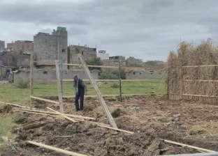 """حملة لرفع التعديات على الأراضي الزراعية بـ""""الشيخ ضرغام"""" في دمياط"""