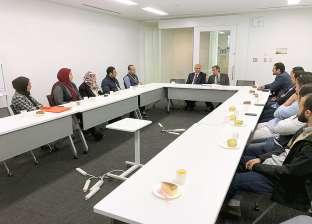 رئيس جامعة كفر الشيخ يلتقي الباحثين المصريين باليابان
