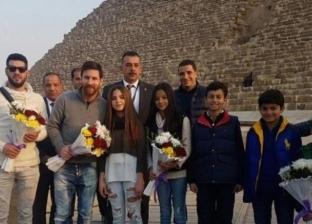 ميسي ورنالدو وأشر.. مشاهير أجانب روجوا للسياحة المصرية: فيها حاجة حلوة