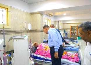 محافظ الشرقية يتفقد مستشفى القنايات المركزي وشادر اللحوم