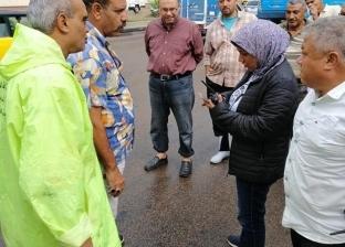 جولة تفقدية لرئيسة حي وسط الإسكندرية لمتابعة صرف المياه