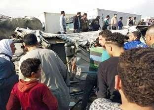 محافظة البحيرة: 10 آلاف جنيه لأسرة كل ضحية في حادث الطريق الزراعي