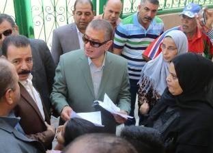 بالصور  محافظ كفرالشيخ يتفقد مكاتب التموين