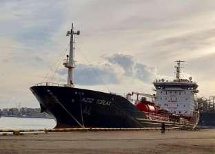 شحن 4300 طن صودا كاوية من ميناء غرب بورسعيد