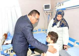 رئيس جامعة المنصورة يتفقد الوحدات الطبية الجديدة بمستشفى الأطفال