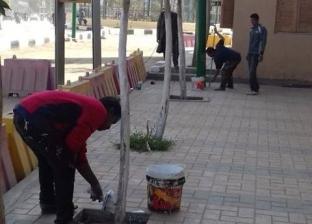 تجميل الشوارع وتكثيف حملات النظافة احتفالا برأس السنة في المنيا