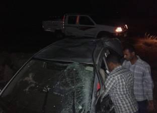 إصابة شخص في اصطدام سيارة بعمود إنارة على طريق السنبلاوين بالدقهلية