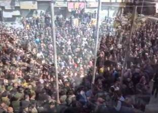 مظاهرات ضد الجماعات المسلحة في عدة مدن سورية