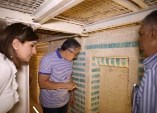 بالصور  وزير الآثار يتفقد تطوير وترميم المقبرة الجنوبية للملك زوسر