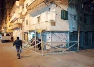 سقوط أجزاء من شرفة عقار في المنتزه أول شرق الإسكندرية