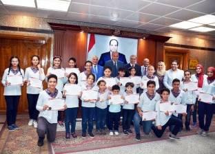 محافظ القليوبية يكرم الطلاب المتفوقين بالمدرسة العالمية الدولية ببنها