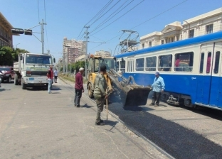 بالصور| تطوير مزلقانات الترام بسيدي جابر وبولكلي في الإسكندرية