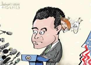 كاريكاتير روسي يسخر من المتحدث باسم وزارة الخارجية الأمريكية