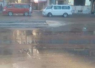 """ماسورة مياه تعطل حركة المرور في """"فونتانا"""" بالمعادي"""