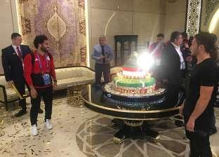 فندق منتخب مصر يحتفل بعيد ميلاد محمد صلاح