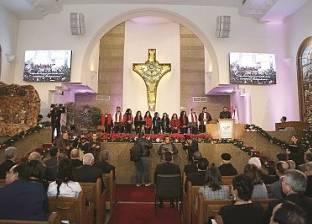 الورود تزين كاتدرائية ميلاد المسيح بالعاصمة الإدارية