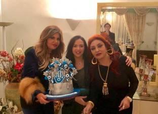 بالصور| احتفال نبيلة عبيد بعيد ميلادها بحضور لبلبة وبوسي شلبي
