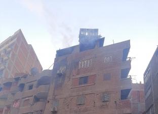 ندب المعمل الجنائي لمعاينة حريق شقة في شبرا الخيمة