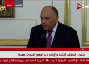 """""""شكري"""" يعرب عن تطلع مصر لدعم أمريكا لتحقيق المزيد من الأمن والاستقرار"""