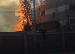 السيطرة على حريق بجوار مستشفى الحميات في دمنهور