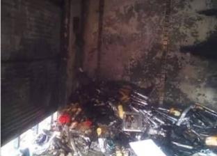 حريق يلتهم 5 محلات تجارية في نصر النوبة.. ومليونا جنيه خسائر مبدئية
