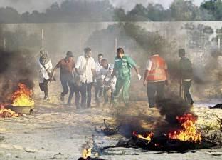 شهيد و8 إصابات على حدود غزة