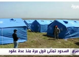 بالفيديو| لأول مرة منذ 30 عاما.. فيضانات تحاصر قرى وبلديات العراق