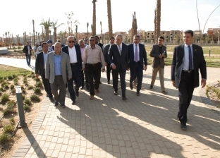 """وزير الإسكان يتفقد """"حديقة زايد"""" استعدادا لافتتاحها للجمهور قريبا"""