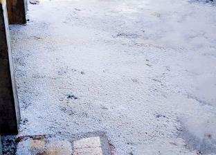 بالصور  تساقط ثلوج وتوقف حركة الصيد في كفر الشيخ