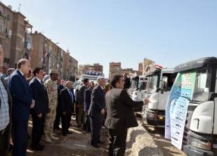 """محافظ القليوبية وقائد قوات الدفاع الشعبي يشهدان مشروع """"صقر 41"""""""