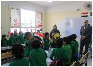 """صور.. وكيل """"تعليم القاهرة"""" يفتتح المبنى الجديد في مدرسة الهلال الأحمر"""