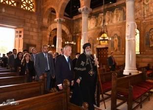 الرئيس البرتغالي يصل الكاتدرائية المرقسية بالعباسية للقاء البابا