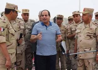 السيسي يتفقد مشروعات العاصمة الإدارية الجديدة فجر اليوم
