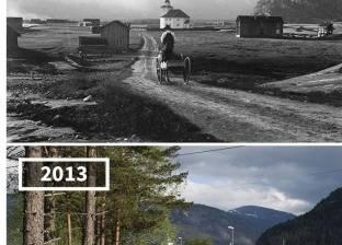 بالصور| لقطات نادرة لمناطق عالمية قبل وبعد مرور سنوات
