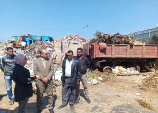 بالصور| رئيس مدينة المحلة يتفقد مصنع تدوير القمامة بالجابرية