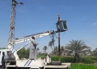 إصلاح وصيانة الطريق العام المؤدي لقرية أبوان بمطاي في المنيا