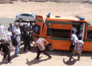 إصابة 4 مجندين في حادث انقلاب سيارة بطريق مطروح