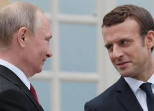 """""""بوتين"""" لـ""""ماكرون"""": إحياء آليات التعاون بين بلدينا متواصل"""
