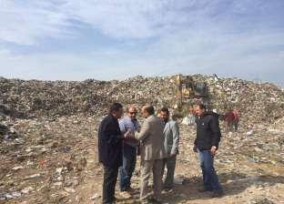 """رئيس المحلة يتفقد مصنع تدوير القمامة.. ويوجه بتوسعة طريق """"الجابرية"""""""