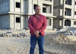 """""""محمد"""" يتفقد أعمال البناء والتعمير في مدينة رفح الجديدة"""