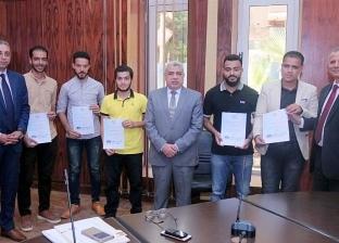 """جامعة طنطا تكرم طلاب """"مؤتمر الطاقة المتجددة واستدامة المياه"""""""